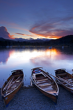 Sunset, Ambleside, Lake Windermere, Lake District National Park, Cumbria, England, United Kingdom, Europe