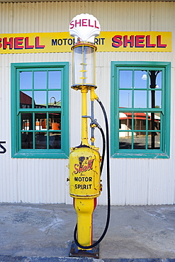 Antique petrol pump in Kimberley, South Africa, Africa