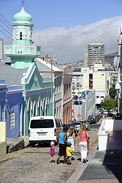 Colourful houses, Bo-Cape area, Malay inhabitants, Cape Town, South Africa, Africa