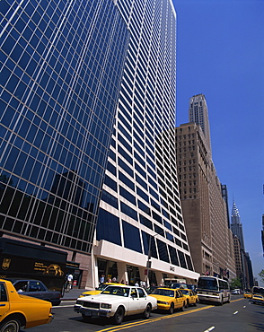 The Grace Building on 42nd Street, with the Chysler Building behind, Manhattan, New York City, United States of America, North America