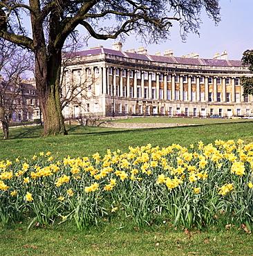 Royal Crescent, Bath, UNESCO World Heritage Site, Avon, England, United Kingdom, Europe