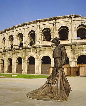 Roman Arena, Nimes, Languedoc, France, Europe
