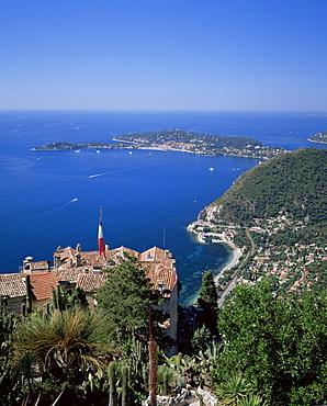 Eze and St. Jean-Cap-Ferrat, Cote d'Azur, Provence, France, Mediterranean, Europe
