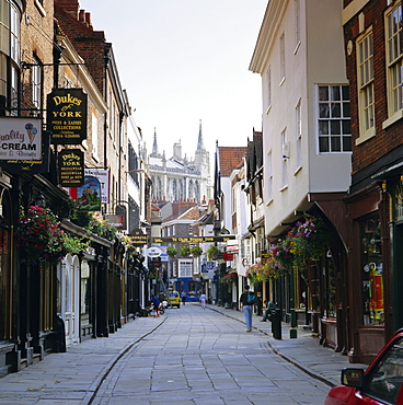 Stonegate, York, Yorkshire, England, UK, Europe