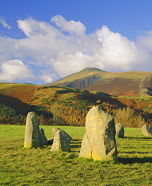 The prehistoric Castlerigg Stone Circle, Lake District, Cumbria, England, UK