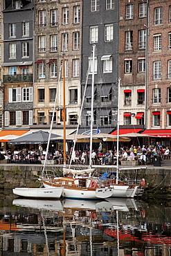 Inner harbour, Honfleur, Normandy, France, Europe