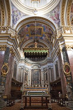 Interior St. Paul's Cathedral, Mdina, Malta, Europe