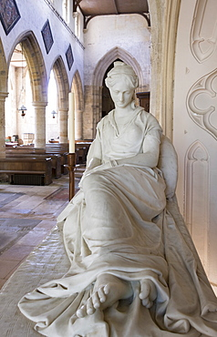 Sculpture of Mary Anne Boulton, died 1829, by Chantrey, St Michaels Church, Great Tew, Oxfordshire, England, United Kingdom, Europe