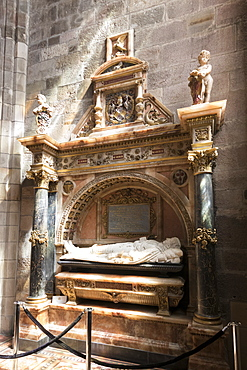 Tomb of James Graham, 1st Marquis of Montrose, St. Giles' Cathedral, Edinburgh, Scotland, United Kingdom, Europe