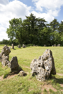 The Kings Men stone circle, The Rollright Stones, on the Oxfordshire Warwickshire border, England, United Kingdom, Europe