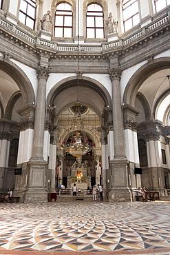 Interior, Church of Santa Maria della Salute, Venice, UNESCO World Heritage Site, Veneto, Italy, Europe