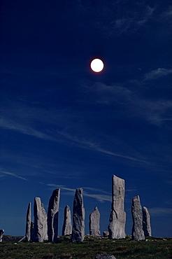 Standing stones, Callanish, Isle of Lewis, Outer Hebrides, Scotland, United Kingdom, Europe