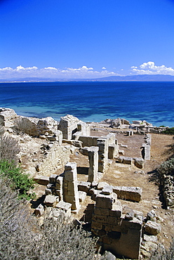 Roman ruins, Tharros, near Oristano, Sardinia, Italy, Europe