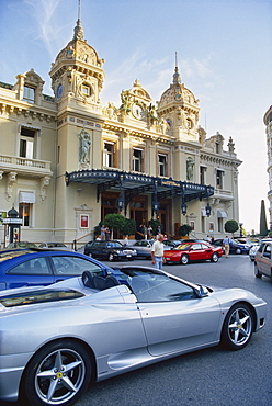Casino and Ferrari, Monte Carlo, Monaco, Europe