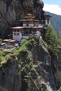 Taktshang Goemba (Tigers nest monastery), Paro valley, Bhutan, Asia