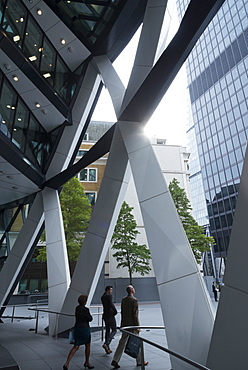 The 30 Sainte Mary Axis tower also known as The Gherkin, The City of London, United Kingdom, Europe