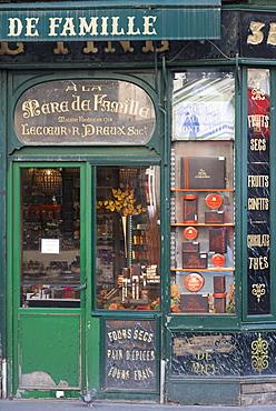 Old shop window, Rue du Faubourg, Montmartre, Paris, France, Europe