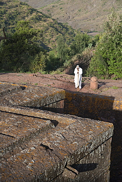 Bet Giyorgis church, Lalibela Rock Hewn Churches, UNESCO World Heritage Site, Northern Ethiopia, Africa