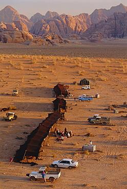 A bedouin (bedu) camp, Wadi Rum, Jordan, Middle East