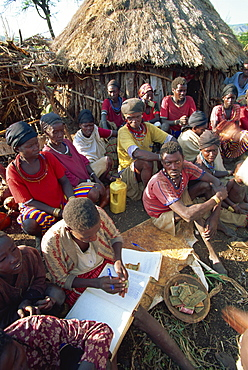 Cooperative collection of funds, Konso, Ethiopia, Africa