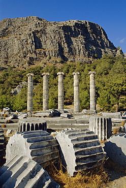 Temple of Athena, Priene, Anatolia, Turkey, Asia Minor, Asia