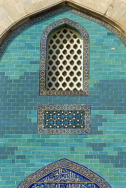 Tiles on the Green Mausoleum (Yesil Turbe), Bursa, Anatolia, Turkey, Asia Minor, Eurasia