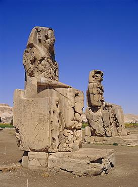 The Colossi of Memnon, Luxor, Egypt, North Africa
