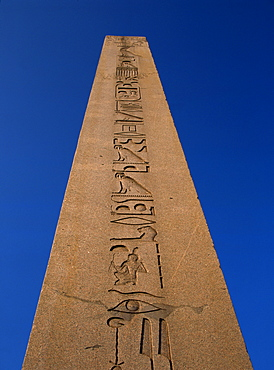 Hieroglyphics on the obelisk in Hippodrome Square in Istanbul, Turkey, Europe