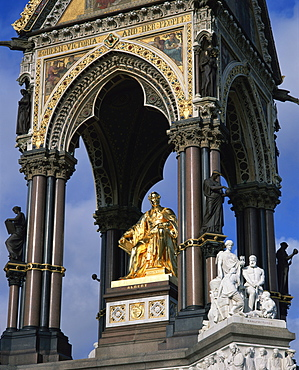 The Albert Memorial, Hyde Park, Kensington, London, England, United Kingdom, Europe