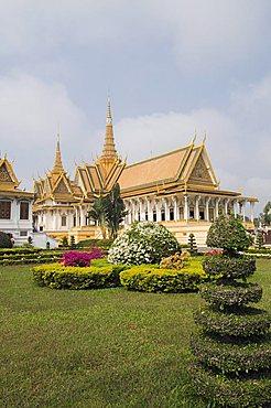 The Royal Throne Hall, The Royal Palace, Phnom Penh, Cambodia, Indochina, Southeast Asia, Asia
