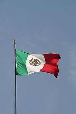 Mexican flag, Queretaro, Queretaro State, Mexico, North America