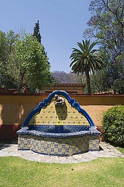 In the gardens of the Hacienda San Gabriel de Barrera, in Guanajuato, a UNESCO World Heritage Site, Guanajuato State, Mexico, North  America