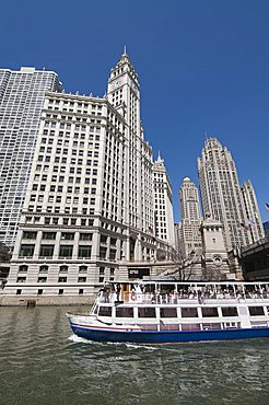 Wrigley Building in background, Chicago, Illinois, United States of America, North America