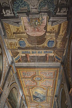 Highly decorated interior corridor, Grand Master's Palace, Valletta, Malta, Europe