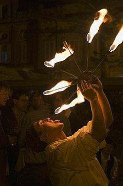 Fire eater, Malta, Europe