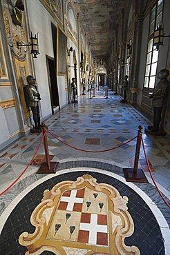 Mosaic in corridor, Grand Master's Palace, Valletta, Malta, Europe