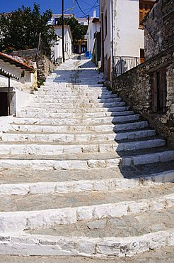 Hill town of Glossa, Skopelos, Sporades Islands, Greek Islands, Greece, Europe