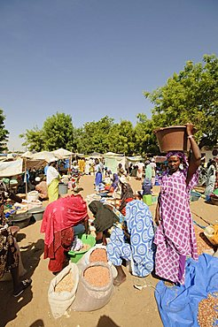 Market at Ngueniene, near Mbour, Senegal, West Africa, Africa