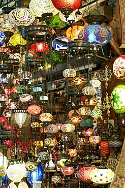 Lamps, Grand Bazaar, Istanbul, Turkey, Europe