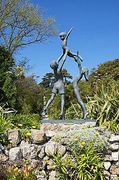 Statue, Abbey Gardens, Tresco, Isles of Scilly, United Kingdom, Europe