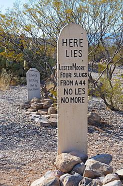 Boot Hill Cemetery, Tombstone, Arizona, United States of America, North America
