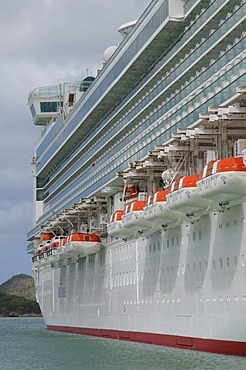 Cruise ships in St. Johns, Antigua, Leeward Islands, West Indies, Caribbean, Central America