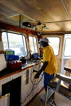 Ferry captain, St. Kitts and Nevis, Leeward Islands, West Indies, Caribbean, Central America