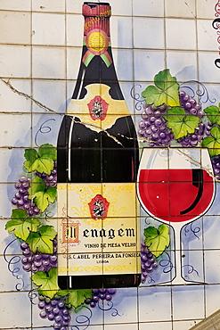 Advertising tiles, Porto, Portugal, Europe