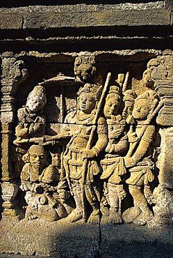 Detail, Buddhist temple, Borobudur, UNESCO World Heritage Site, Java, Indonesia, Southeast Asia, Asia