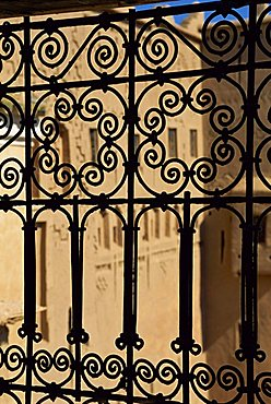 Wrought ironwork, Taourirt Kasbah, Ouarzazate, Morocco, North Africa, Africa