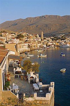 Emborio, Khalki (Chalki), near Rhodes, Dodecanese Islands, Greece, Europe