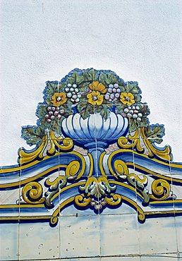 Azulejos, Pinhao railway station, Douro region, Portugal, Europe