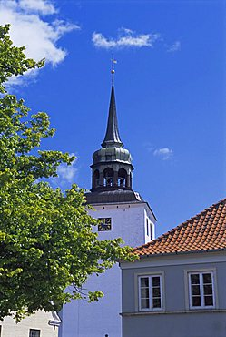 Church, Aeroskobing, island of Aero, Denmark, Scandinavia, Europe