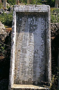 Board game, possibly backgammon, Aphrodisias, Anatolia, Turkey, Asia Minor, Asia